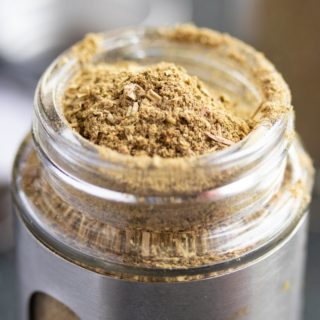 poultry seasoning in a spice jar