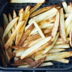 cooked air fryer fries