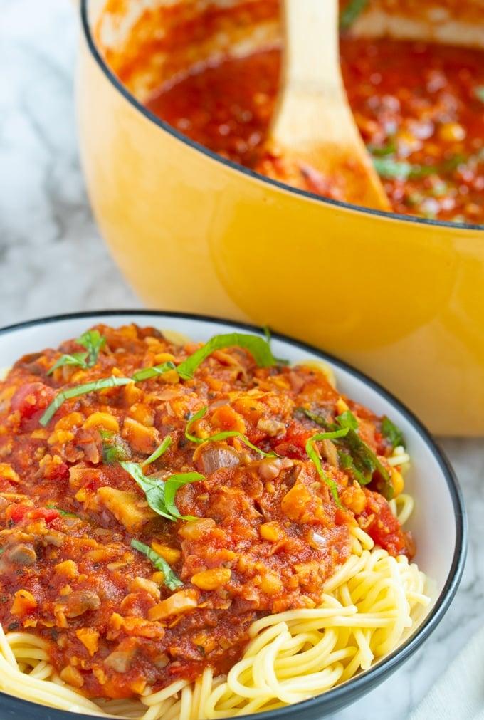 Homemade Vegetarian Spaghetti Sauce My Forking Life