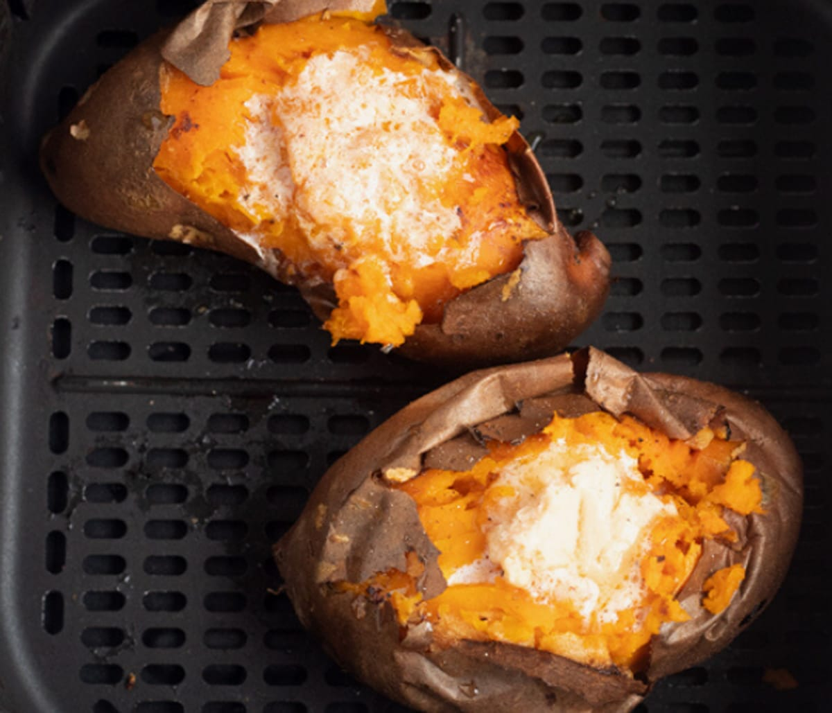 Air Fryer Sweet Potatoes With Hot Honey Butter My Forking Life