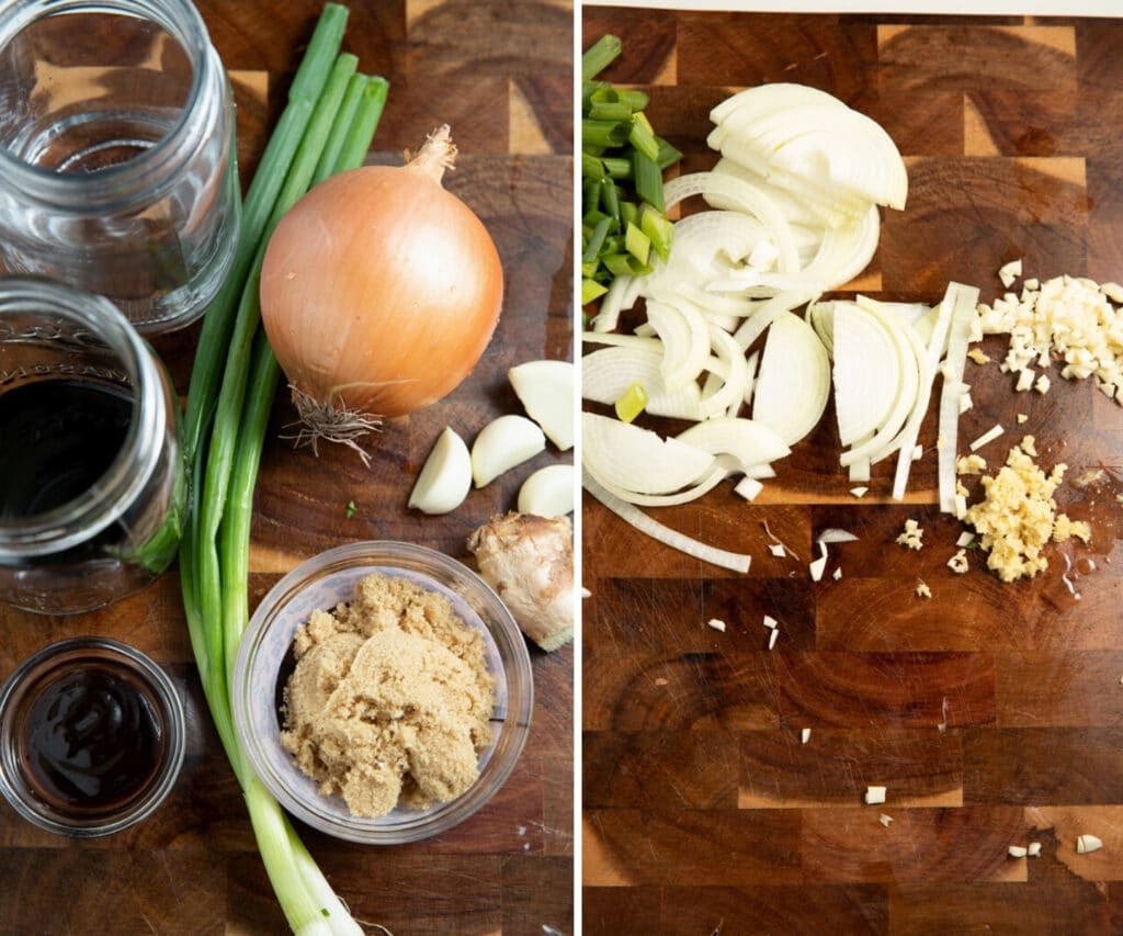 Ingredients prepped to make the dish