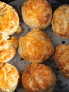 biscuits in an air fryer basket
