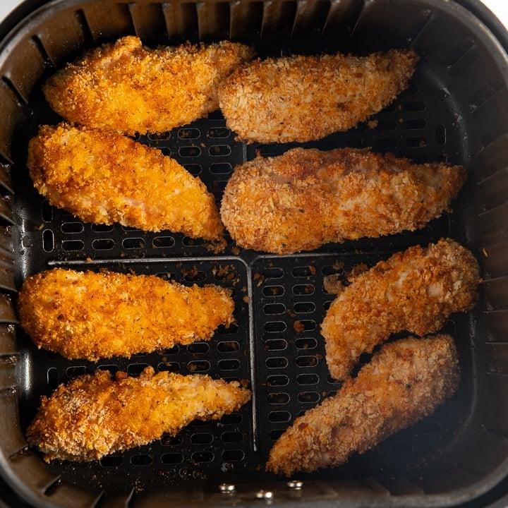 cooked chicken tenders in basket
