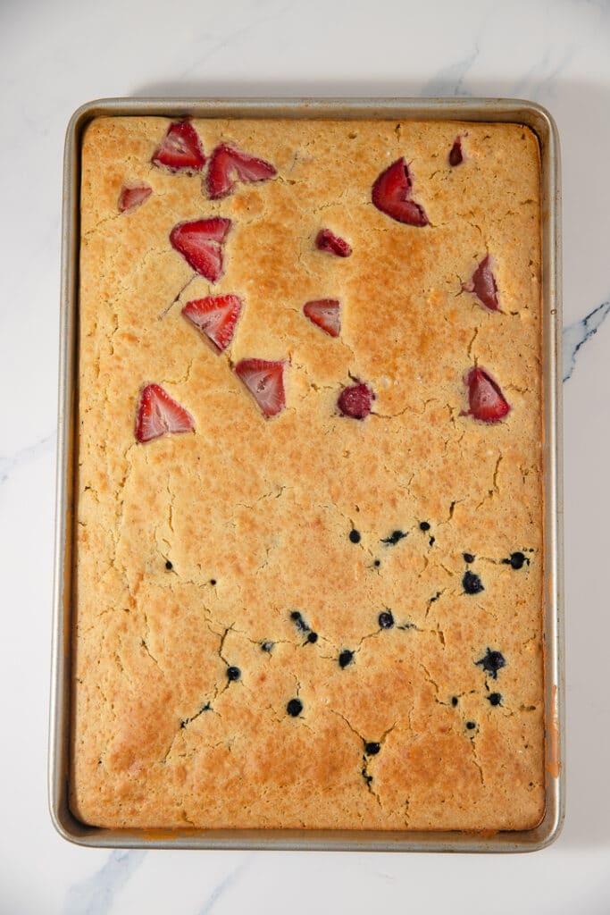 Baked sheet pan pancakes