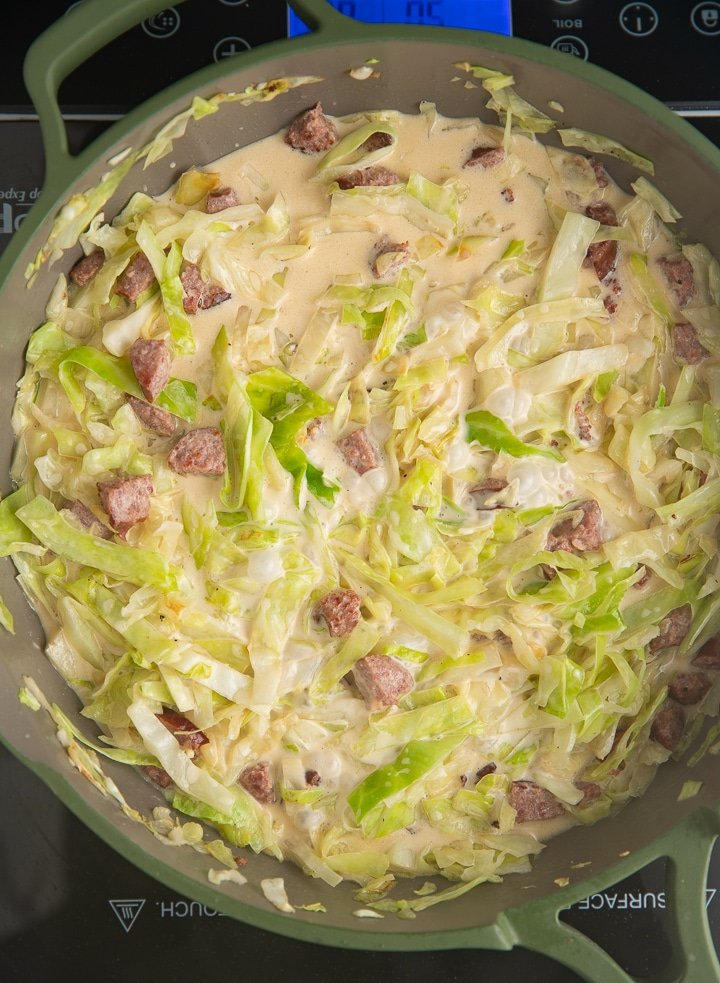 The cabbage softened