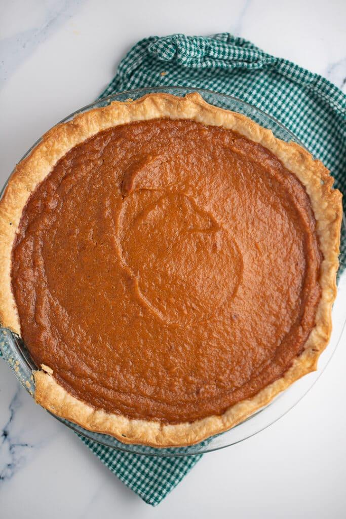 The baked sweet potato pie