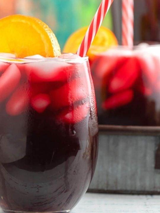 sorrel drink in glass