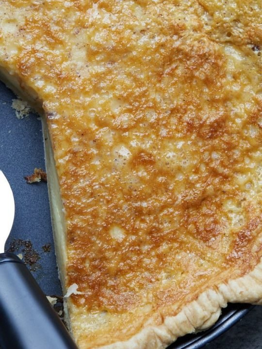 chess pie in pie plate