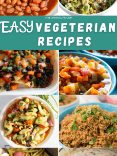 photo that says easy vegetarian recipes with photos of recipes