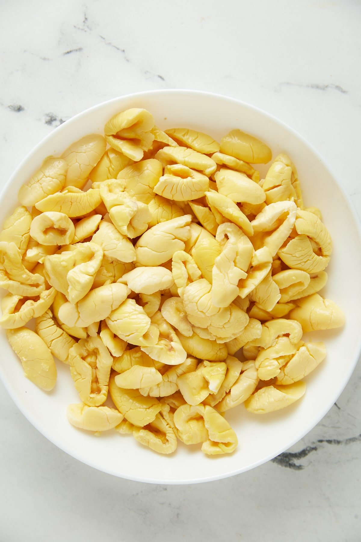 ackee in a white bowl