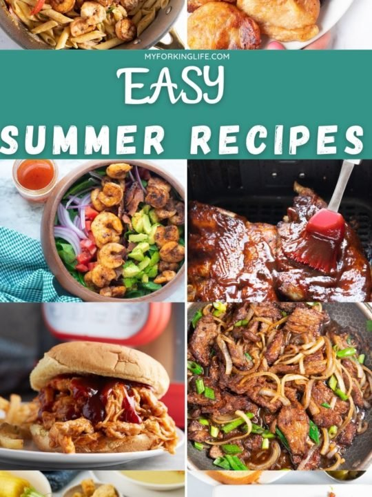 summer recipes pinterest image