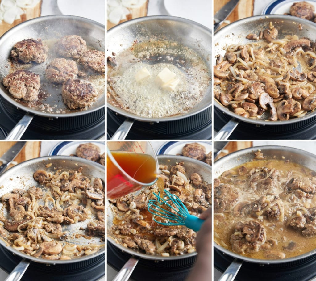 Six step by step photos to show how to cook the recipe.