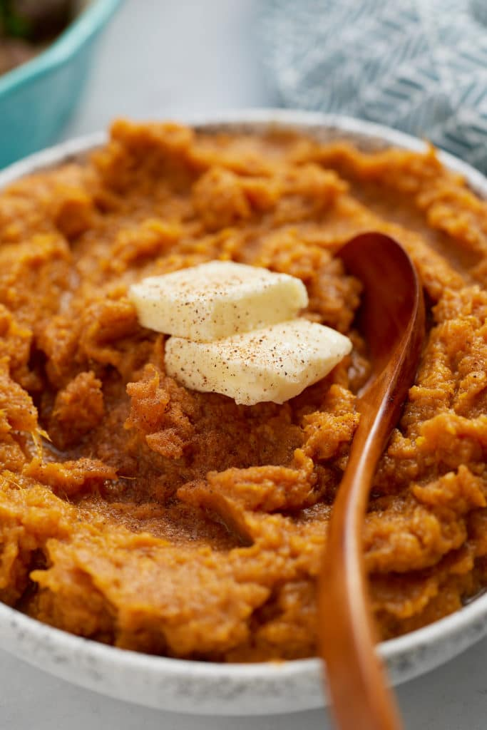 sweet potatoes with butter on top