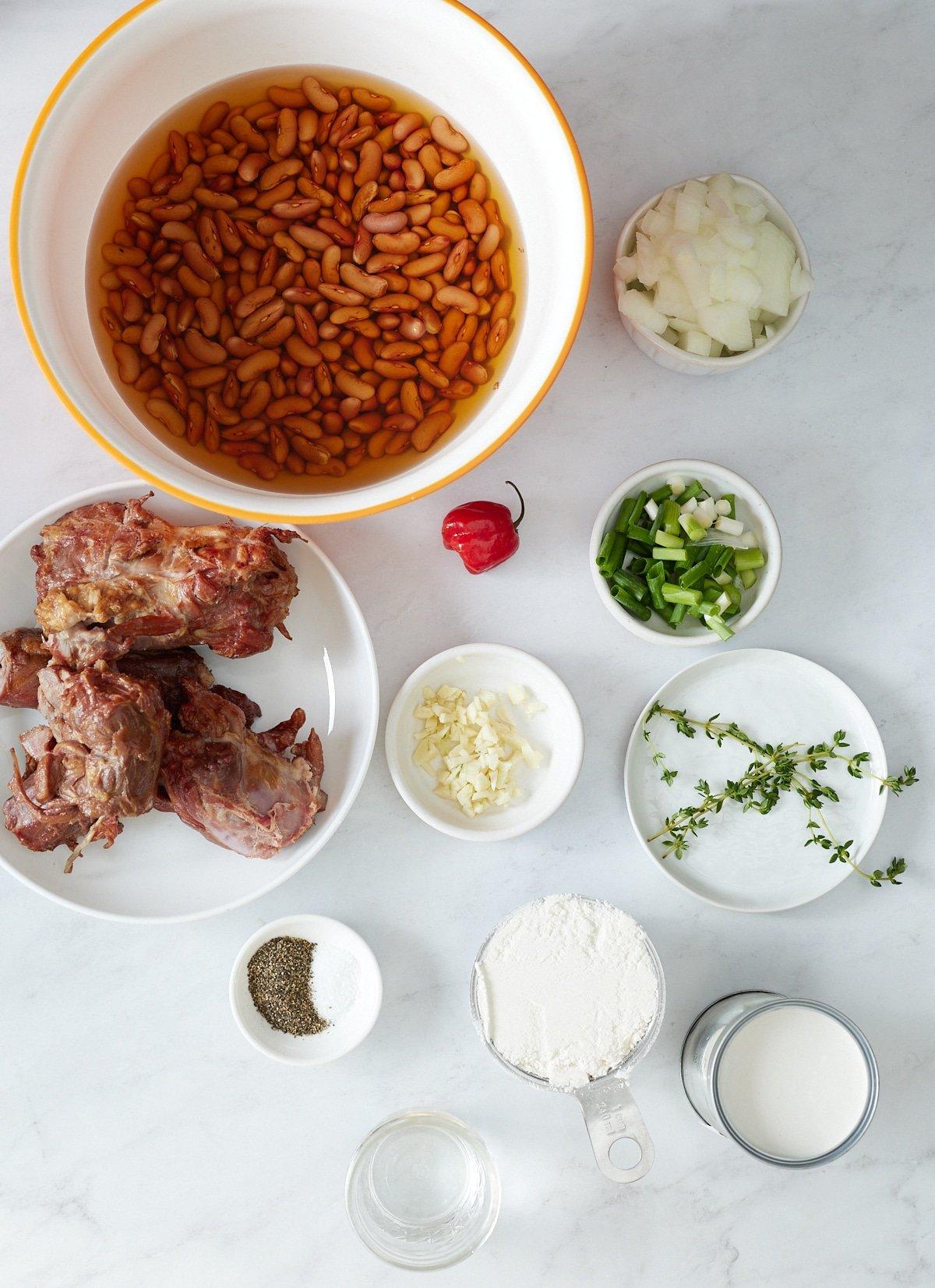 ingredients for stew peas